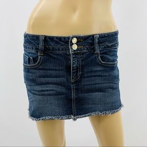 Mudd Blue Denim Mini Skirt with Five Pockets